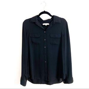 Express Black Portofino Button Up Blouse
